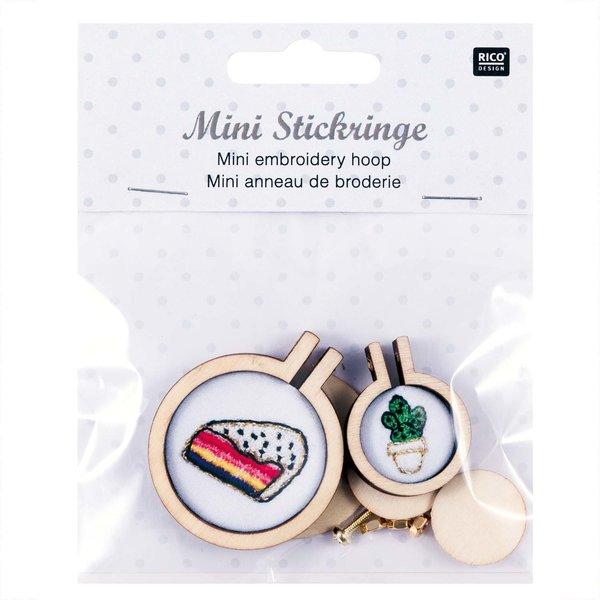 Rico Design Stickringe mini rund 2 Stück
