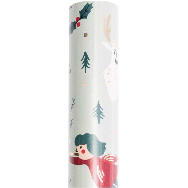 Paper Poetry Geschenkpapier Jolly Christmas Klassik 70cm 2m Hot Foil