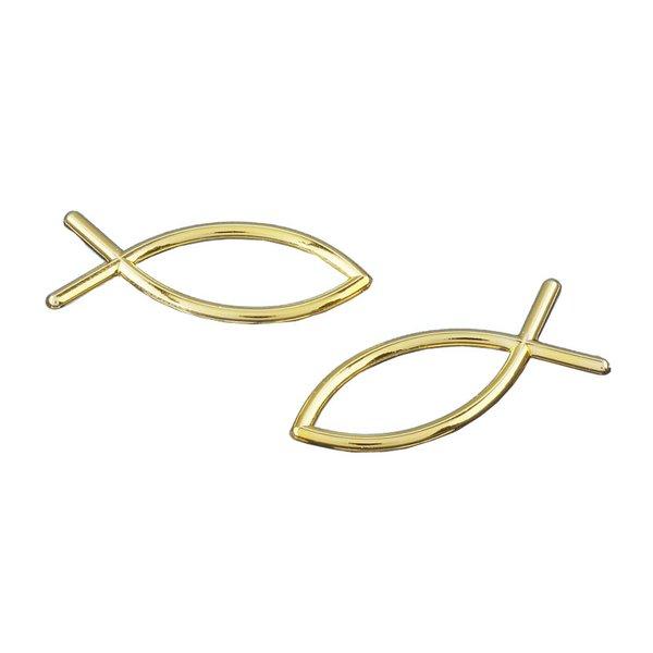 HobbyFun Streu Fisch gold 3cm 4 Stück