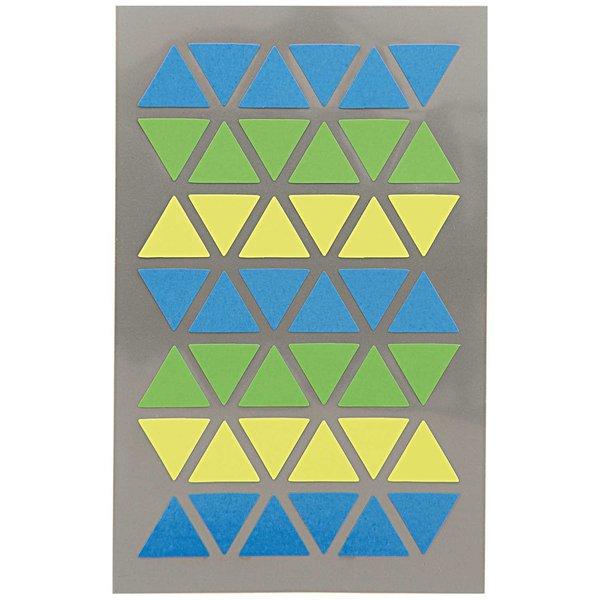 Paper Poetry OfficeSticker Dreiecke blau-grün-gelb 4 Bogen