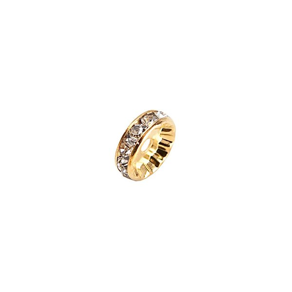 Rico Design Strassrondell glatt gold 4mm 6 Stück
