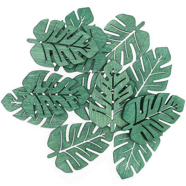 Streu Blatt grün 4cm 12 Stück
