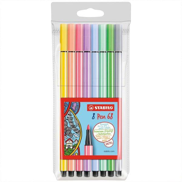 Stabilo Pen 68 Pastellfarben im Etui 8 Farben