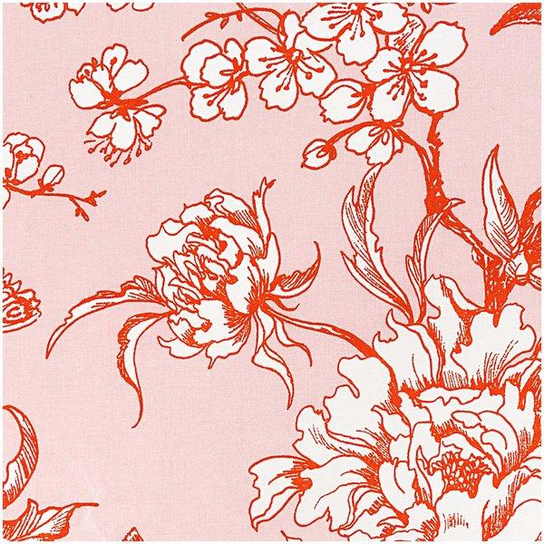 Rico Design Stoff Kirschblüte puder-orange 50x140cm