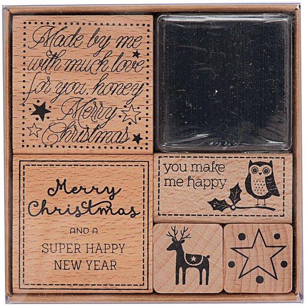 Paper Poetry Stempelset Weihnachtsgruß 5 Stück