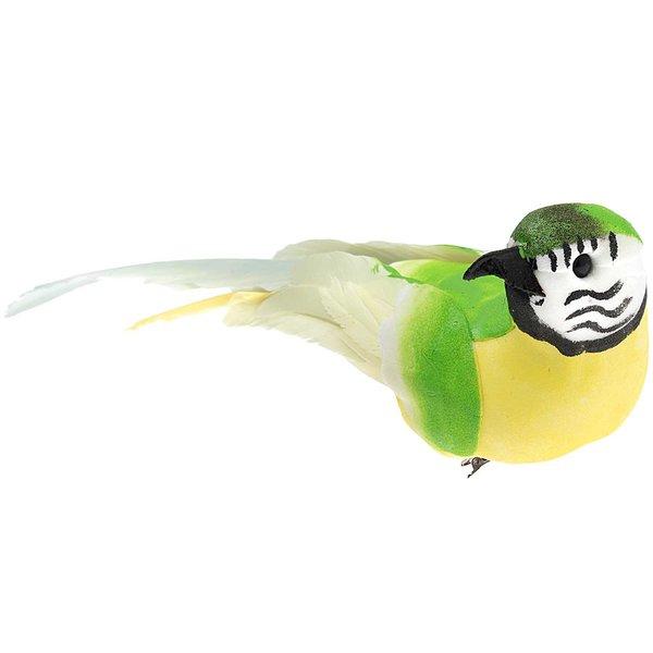 Papagei am Clip grün 20cm