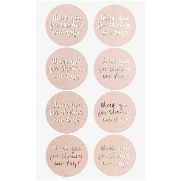 Paper Poetry Sticker Thank you for sharing our day puder 4 Blatt