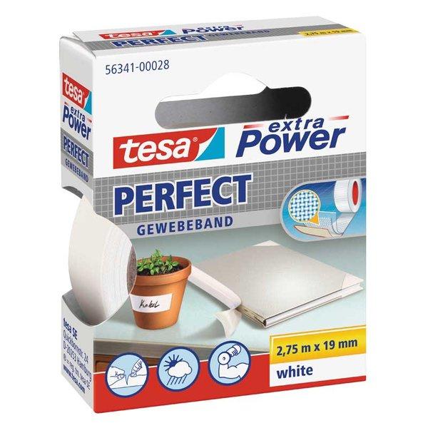 tesa Gewebeband extra Power weiß 19mm 2,75m