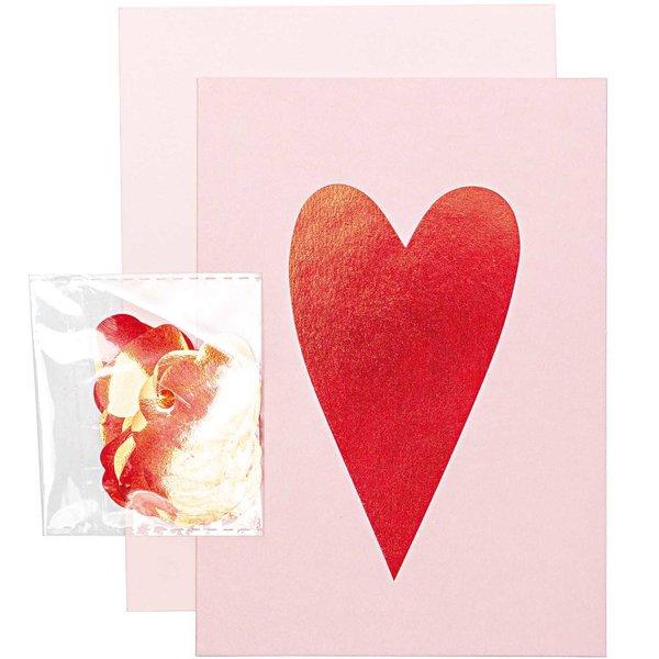Paper Poetry Grußkartenset It must be love Herz rot