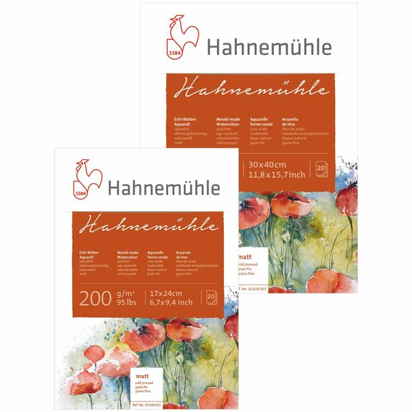 Hahnemühle Aquarellblock matt 200g/m² 20 Blatt