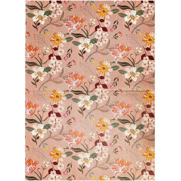 Rico Design Paper Patch Papier Blumen mauve 30x42cm
