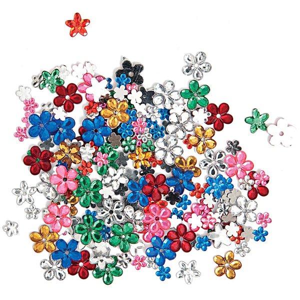 Rico Design Strass Mix Blumen mehrfarbig ca. 200 Stück
