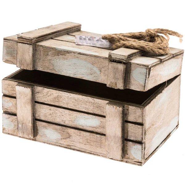Schatztruhe 10,5x7,5cm Holz