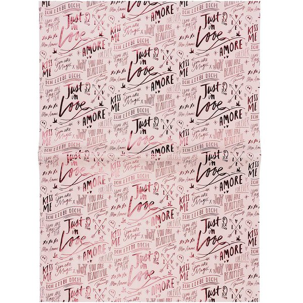 Paper Poetry Paper Patch Papier Herzen rosa 30x42cm