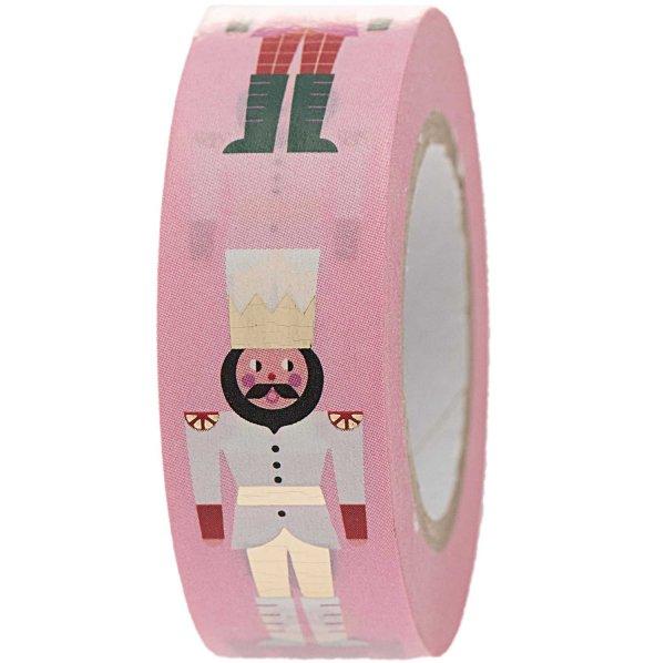 Paper Poetry Tape Nussknacker pink 1,5cm 10m