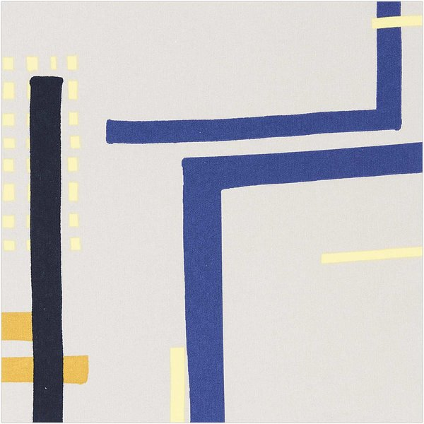 Rico Design Druckstoff Okina Hana grafisches Muster klein grau-neon 140cm