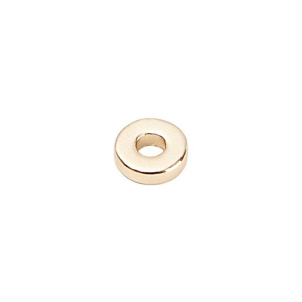 Rico Design Scheibe rund gold 4mm 40 Stück