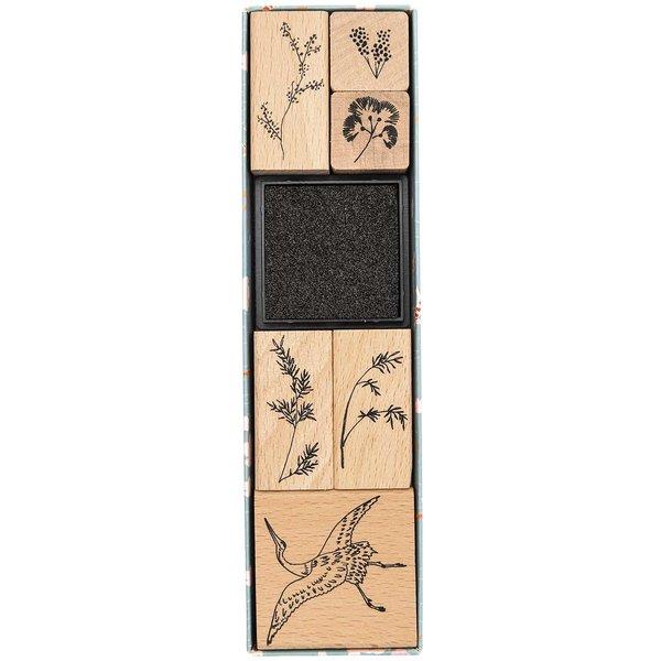 Paper Poetry Stempelset Jardin Japonais Kranich 6 Stempel