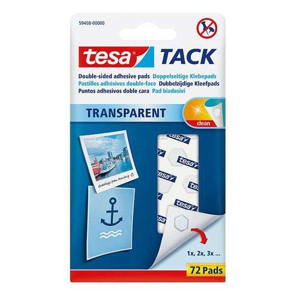 tesa TACK Klebepads transparent 72 Stück