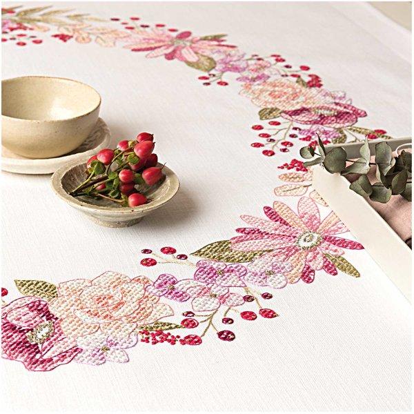 Rico Design Stickpackung Decke Herbstkranz 90x90cm