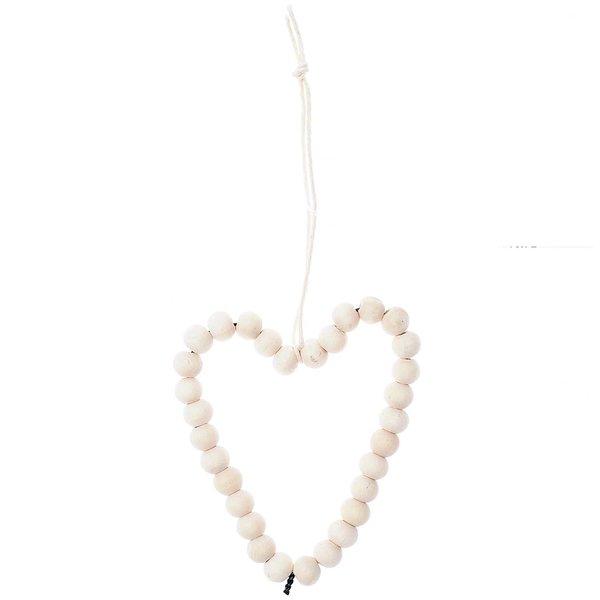 Ohhh! Lovely! Perlenhänger Herz groß Holz