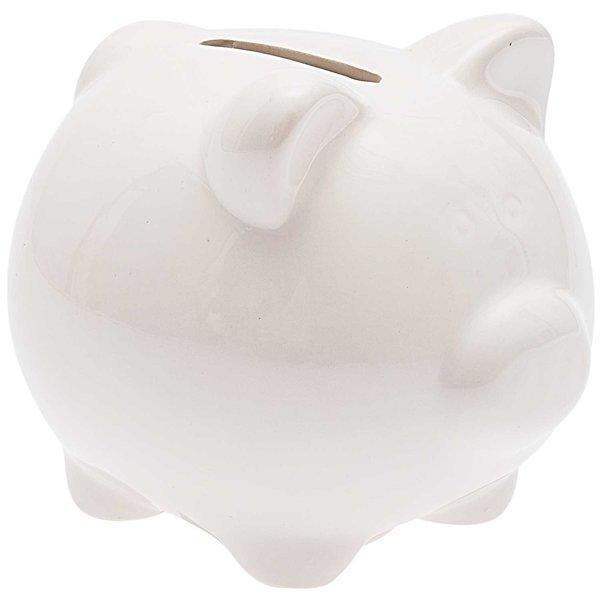 Sparschwein zum Bemalen weiß 10x8,5cm