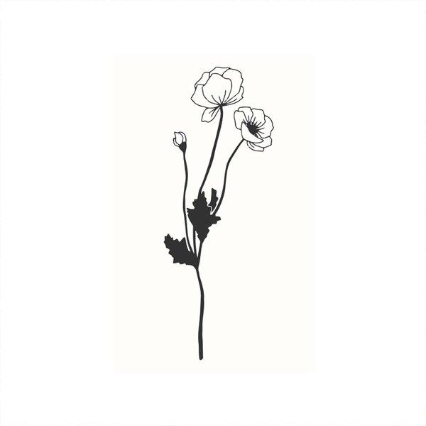 May&Berry Stempel Mohnblumen weiß 35x55mm