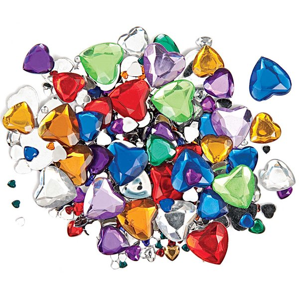 Rico Design Strass Mix Herz mehrfarbig ca. 450 Stück