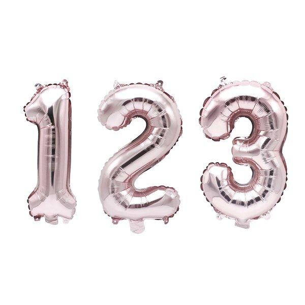 YEY! Let's Party Folienballon Zahl rosa 36cm