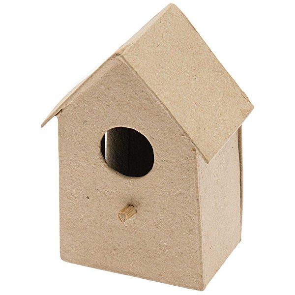 Rico Design Pappmaché Vogelhaus mittel 7,3x10,5x5,5cm