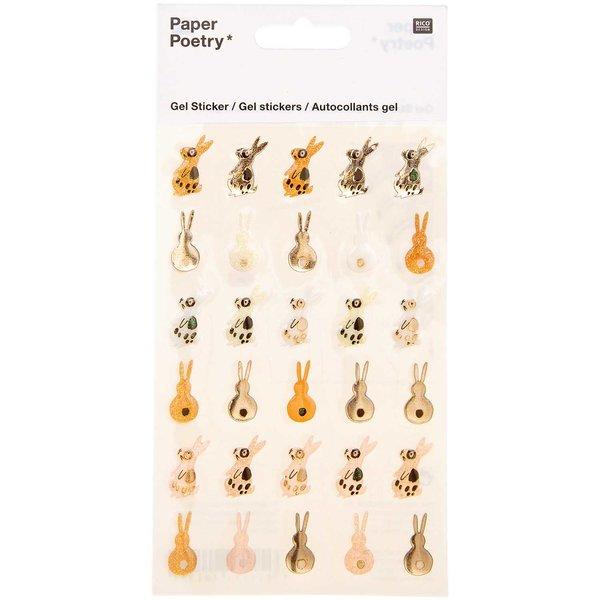 Paper Poetry Gelsticker Bunny Hop Hasen rosa-braun