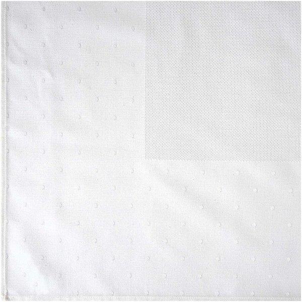 Rico Design Tischdecke weiß zum Besticken 90x90cm