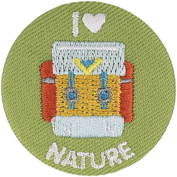 Jewellery Made by Me Button Rucksack I love nature 40mm