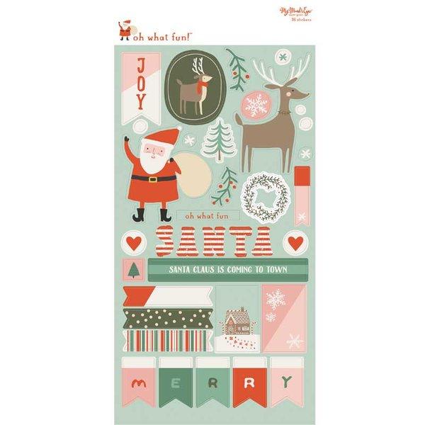 MyMindsEye Oh What Fun -Sticker Sheet 15,2x30,5cm