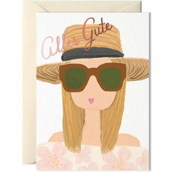 Nelly Castro Grußkarte Alles Gute mit Hut 14,8x10,5cm