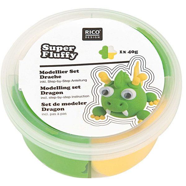 Rico Design Super Fluffy Set Drache 40g