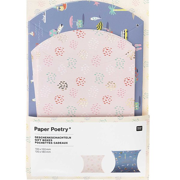 Paper Poetry Geschenkschachteln Maritim 6 Stück