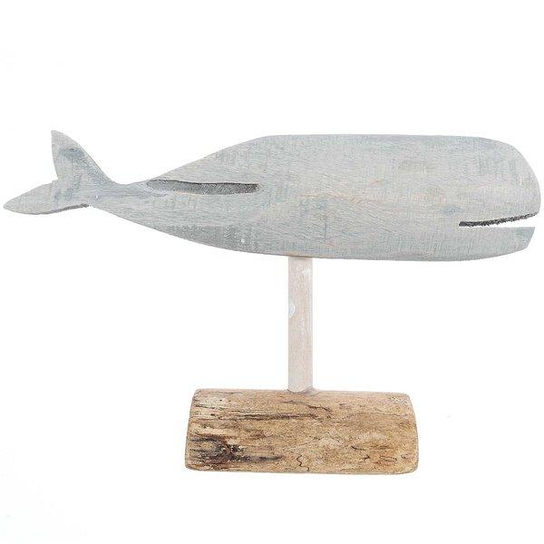 Dekoaufsteller Wal natur 30x17cm