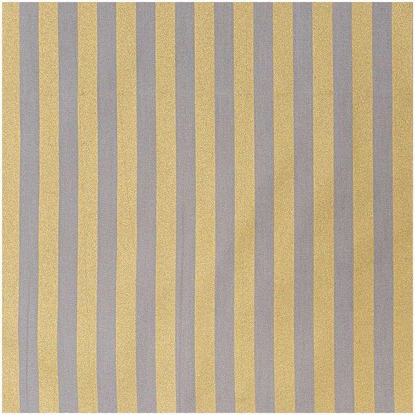 Rico Design Stoff Streifen grau-gold 140cm