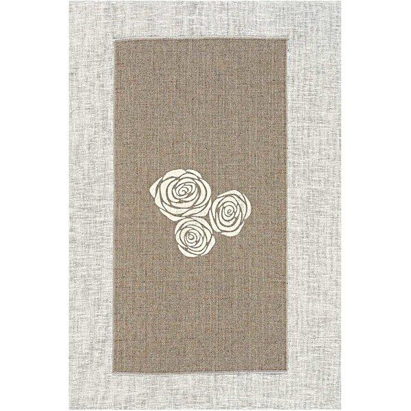 Rico Design Leinenband Rosen natur 30cm