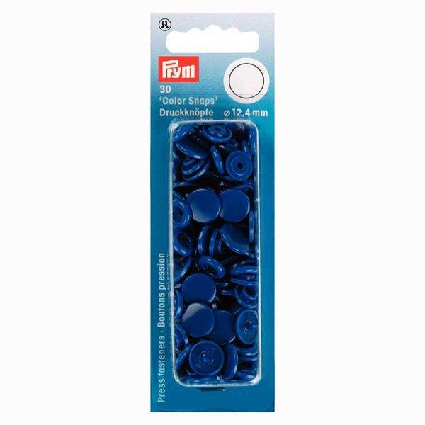 Prym Color Snaps Druckknöpfe königsblau 12,4mm 30 Stück