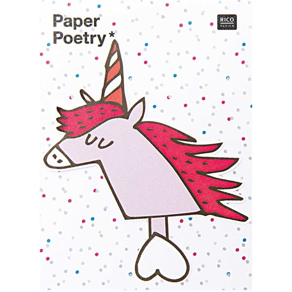 Paper Poetry Sticky Notes Einhorn 50 Blatt