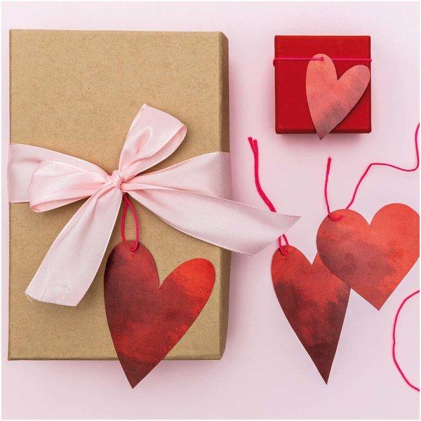 Paper Poetry Papieranhänger It must be love Herzen rot 8 Stück