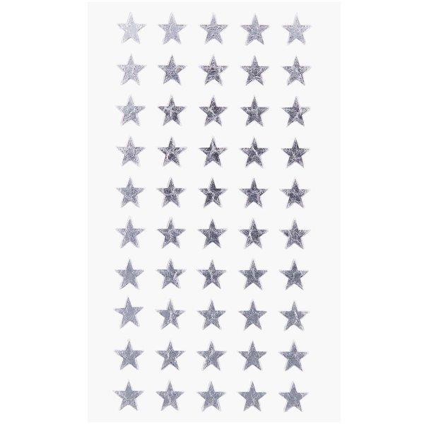 Paper Poetry Sticker Sterne silber 10mm 4 Bogen