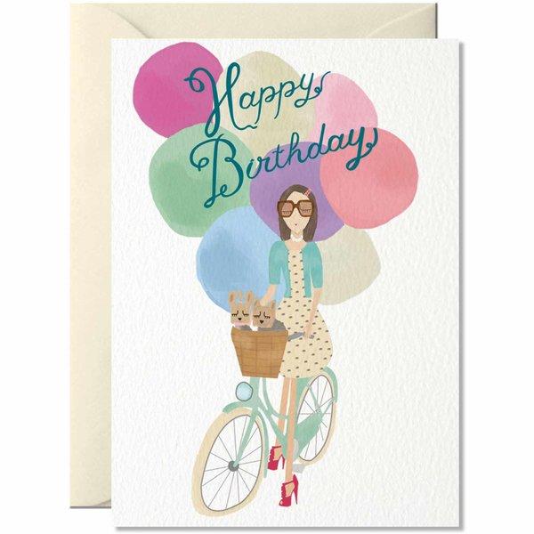 Nelly Castro Grußkarte Happy Birthday Ballons 14,8x10,5cm