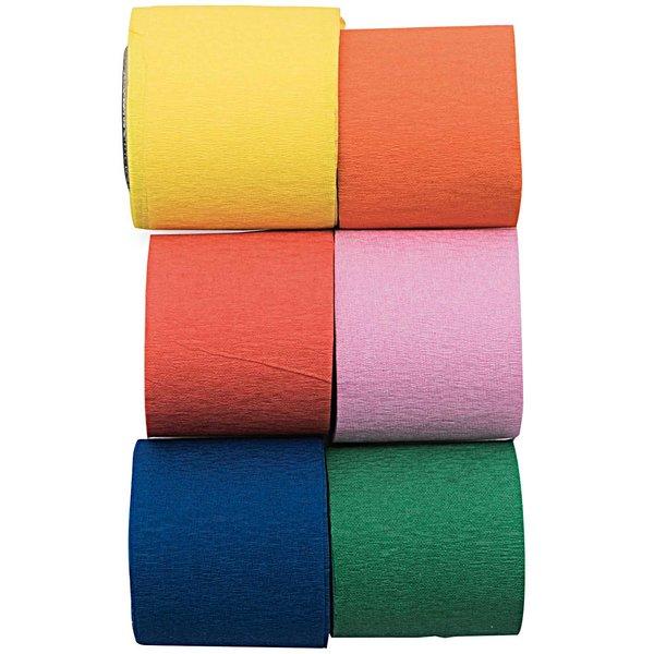 YEY! Let's Party Kreppbänder Mix mehrfarbig 3,5cm 10m 6 Stück