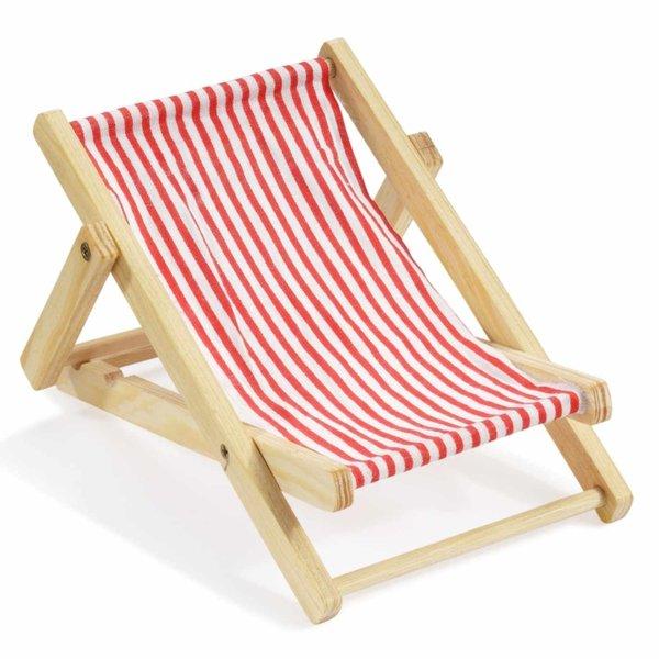 Deko-Liegestuhl rot-weiß 10cm