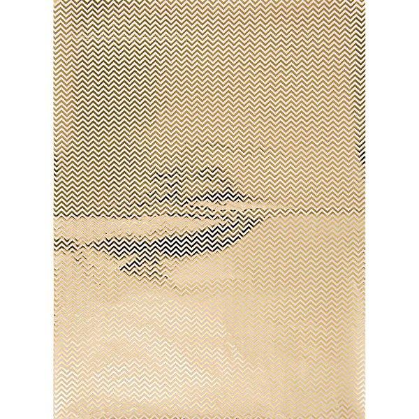 Rico Design SB Paper Patch Papier Zickzack gold 30x42cm 3 Bogen Hot Foil