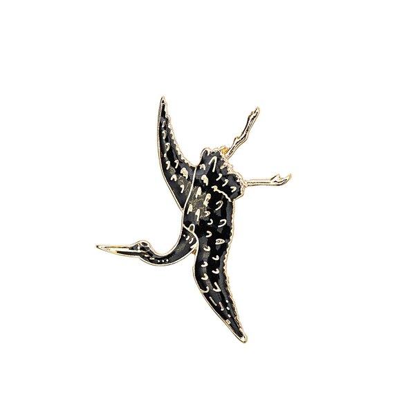 Jewellery Made by Me Pin  Kranich 34x40mm