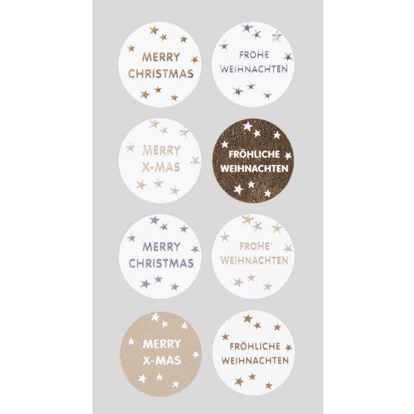 Paper Poetry Sticker Fröhliche Weihnachten gold 4 Bogen